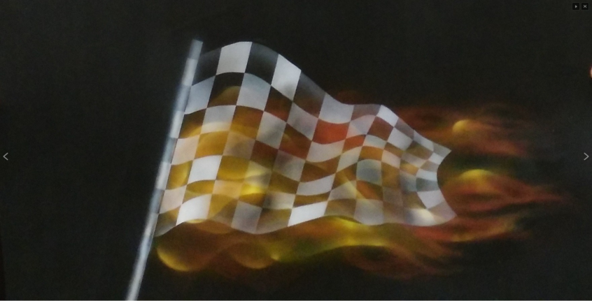 Finish-flag-on-fire
